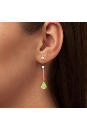 Brilliant Brio Earrings With Peridot - Short Drop