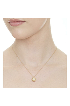 Flower Cup Pearl Gold Vermeil Necklace