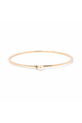 Gold & Pearl Satellite Bangle