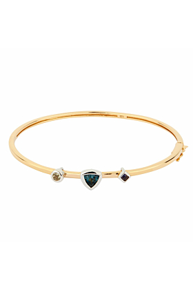 14kt Yellow Gold Plated Sterling Silver Topaz Lucid Bracelet