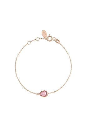 Pisa Mini Teardrop Bracelet Rose Gold Pink Tourmaline