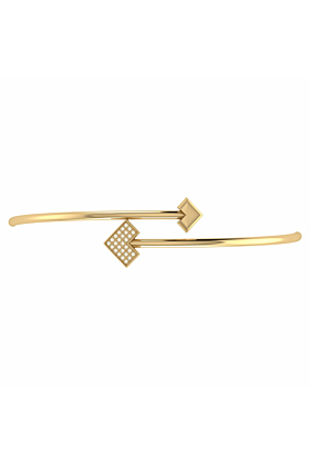 14kt Yellow Gold Plated One Way Bangle