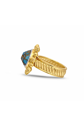 Rise & Shine Detachable Turquoise & Diamond Ring