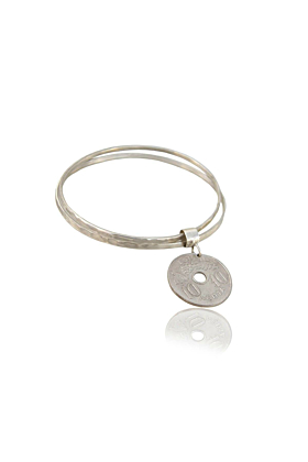 Plated Sterling Silver Flip The Coin Dekara Bracelet