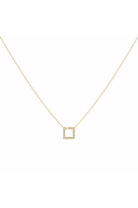 14kt Yellow Gold Plated Street Light Necklace
