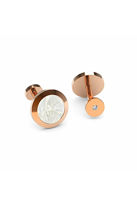 Rose Gold, Diamond & Mother Of Pearl Cufflinks