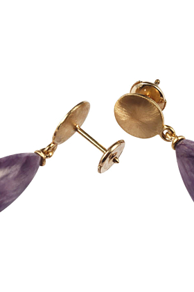 Yellow Gold Rhapsody In Lilac Earrings | Goldspindel