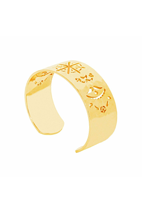 Gold Beleza Cuff Bangle