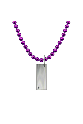 """Silver Classic Necklace - """"Rectangle"""""""