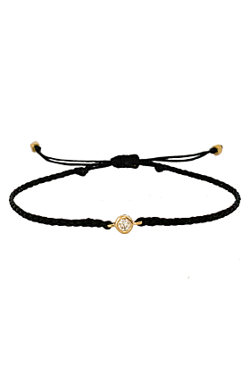 14kt Yellow Gold & Diamond Friendship Adjustable Bracelet