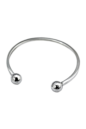 Sterling Silver Disco Balls Bangle