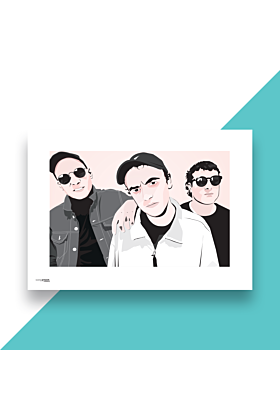 DMA's Hand and Digitally Drawn Poster