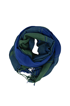 Organic Cotton Turquoise and Sea Blue Scarf