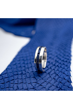 Sterling Silver & Salmon Leather Ring | Nord Collection