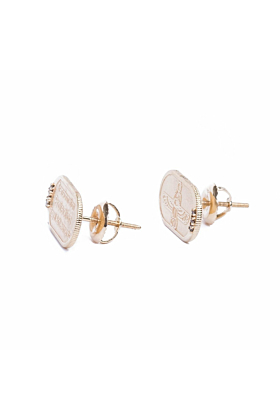 Scarab Rose Gold Earrings With White Diamonds