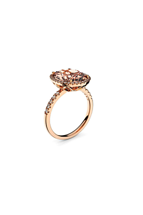 18kt Rose Gold, Diamond & Morganite Ring