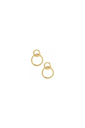 18kt Yellow Gold Double Hoops