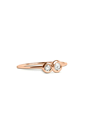 9kt Rose Gold Oro Rosa Diamanti Ring