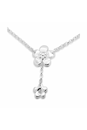 Sterling Silver & Cubic Zirconia Fiore Blossom Y Necklace