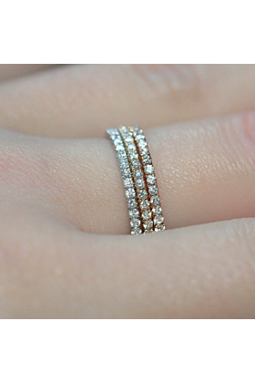 18kt White Gold Diamond Full Eternity Ring