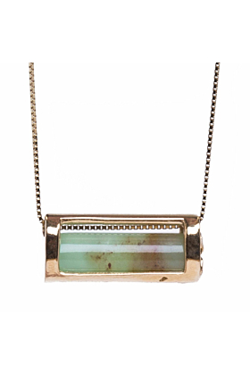 Signature Barrel Necklace In Yellow Gold