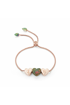 Luv Me Ruby Fuchsite Adjustable Heart Bracelet