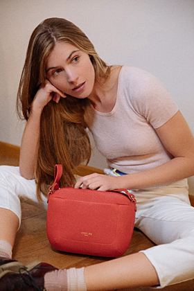Olea Coral Leather Bag