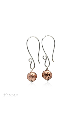 Rose Gold Plated Lavastone Drop Earrings