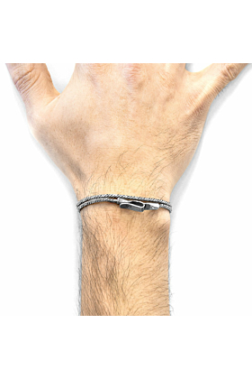 Forestay Double Sail Silver Chain Bracelet