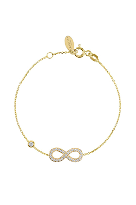 Yellow Gold Plated Eternity Bracelet