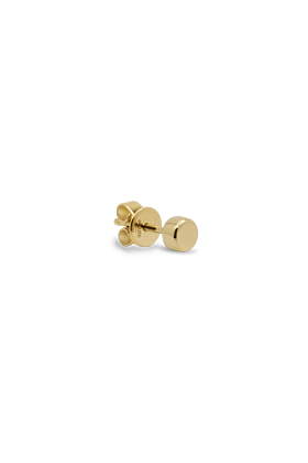 14kt Yellow Gold Single Perfect Stud Earring