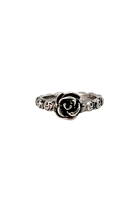 Sterling Silver Ring of Roses Ring