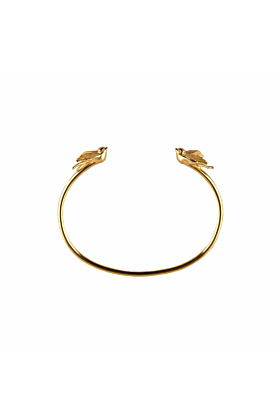 Gold Swallow torc bangle