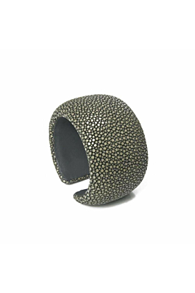 Samba Grey Stingray Leather Bangle