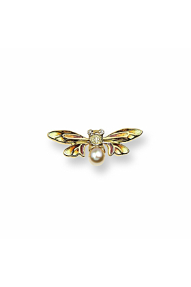18kt Gold Bee Lapel Pin