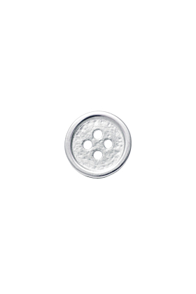 Sterling Silver Button Pin