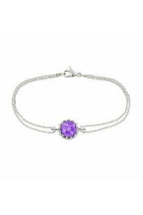 Bloomsbury White Gold Chequer-Cut Amethyst Coronation Bracelet