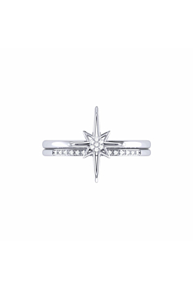 Sterling Silver North Star Detachable Ring