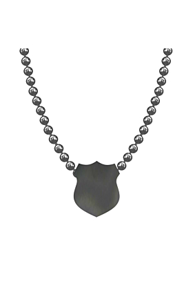 Made In Britain Necklace - Black Rhodium Plated Elegant Shield