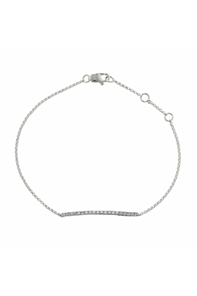 Portobello White Gold Diamond Bar Geo Bracelet