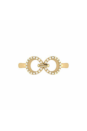 14kt Yellow Gold Plated Binoculars Ring