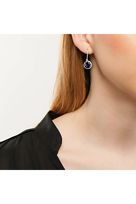 Bloomsbury White Gold Amethyst Coronation Drop Earrings