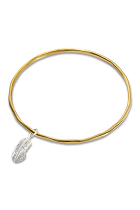 Feather Bangle Gold