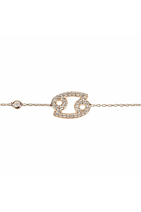 Cancer Zodiac Bracelet Rose Gold