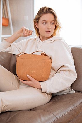 Olea Tan Leather Crossbody Bag
