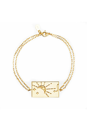 24kt Yellow Gold Plated Celestial Days - Monday Bracelet