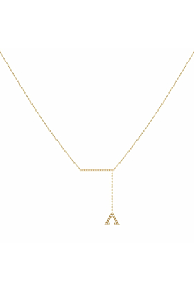14kt Yellow Gold Plated Crane Lariat Necklace