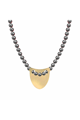 Made In Britain Necklace - 9kt Yellow Gold Vermeil Bowed Shield