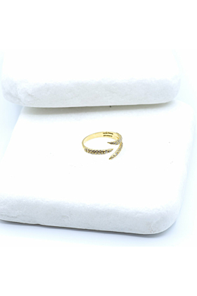 18kt Yellow Gold Diamond Claw Ring