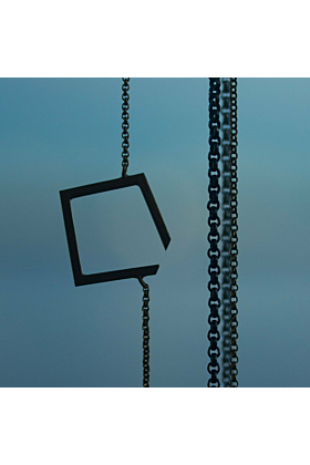 Square Oxidised Necklace Small
